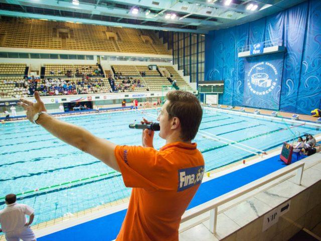 Проведение спортивного интерактива на трибуне Олимпийского