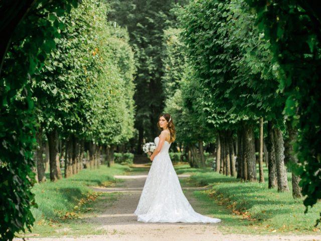 Невеста на фотосессии в Архангельском
