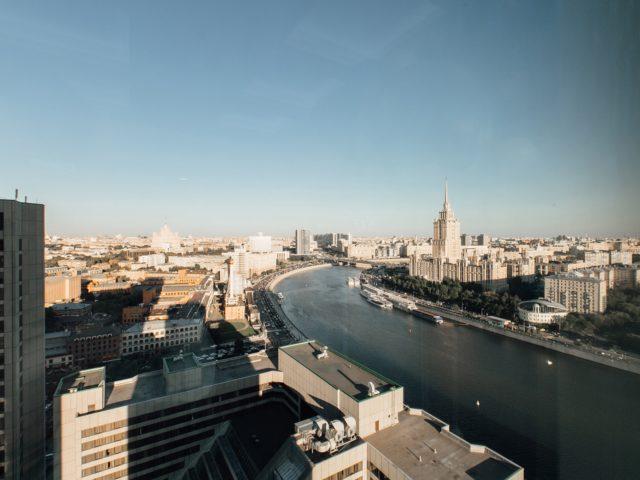 Панорамный вид на Москву из ресторана Центра Международной торговли