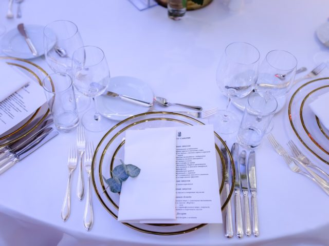 Сервировка от The Ritz Carlton