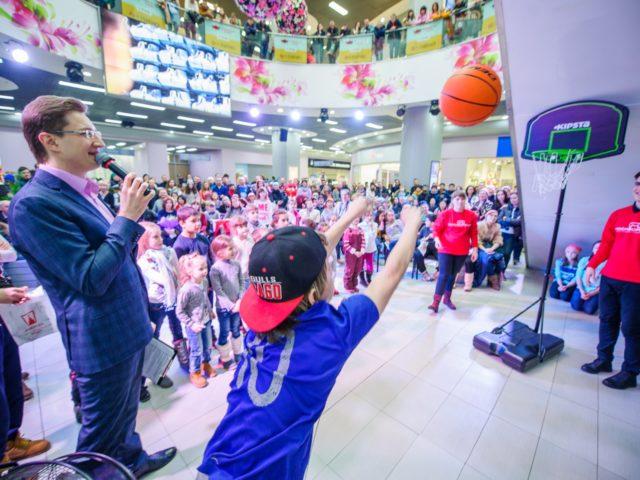 Баскетбольный интерактив на Дне Рождения ТРЦ Москворечье
