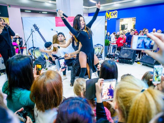 Выступление певицы Бьянки на Дне Рождении ТРЦ Москворечье