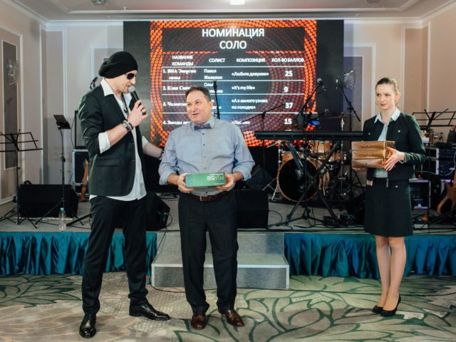 Вручение наград на корпоративном шоу Голос