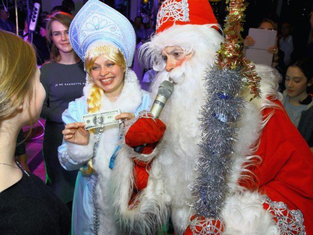 Дед Мороз и Снегурочка в Новогоднюю Ночь в ресторане
