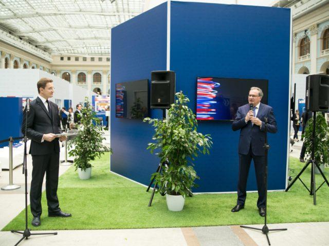 Церемония открытия ведущий Роман Акимов и Валерий Александрович Фадеев