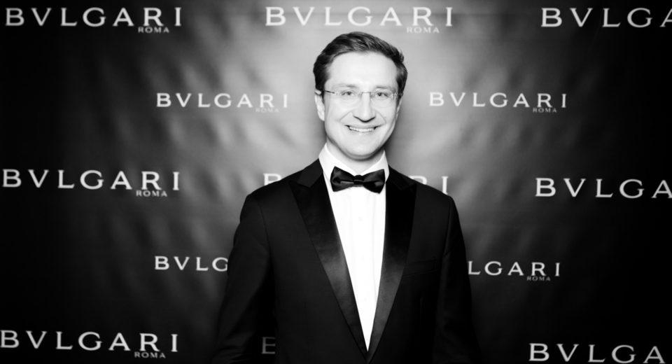 Ведущий Роман Акимов на вечеринке Булгари