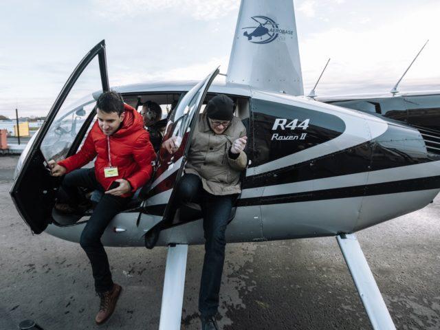Возвращение гостей из полёта