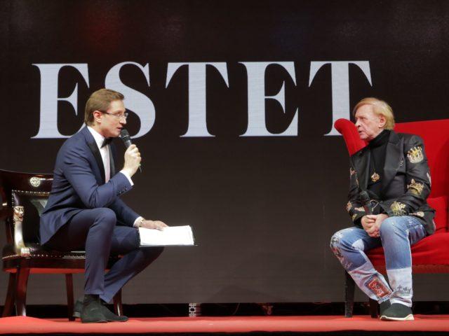 Роман Акимов и Роман Виктюк на Юбилее журнала Estet
