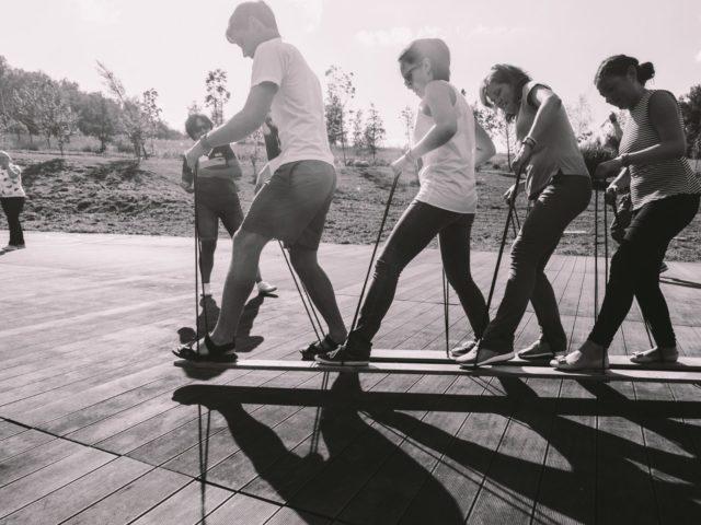 Лыжи для всей команды на корпоративном тимбилдинге