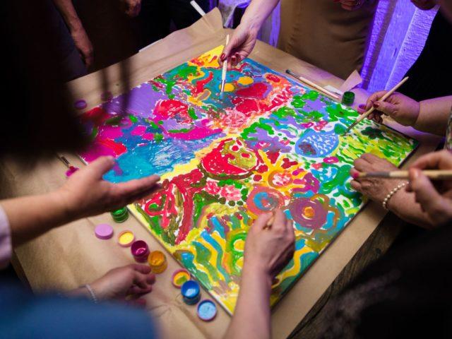 Создание цветовой гаммы для будущей картины