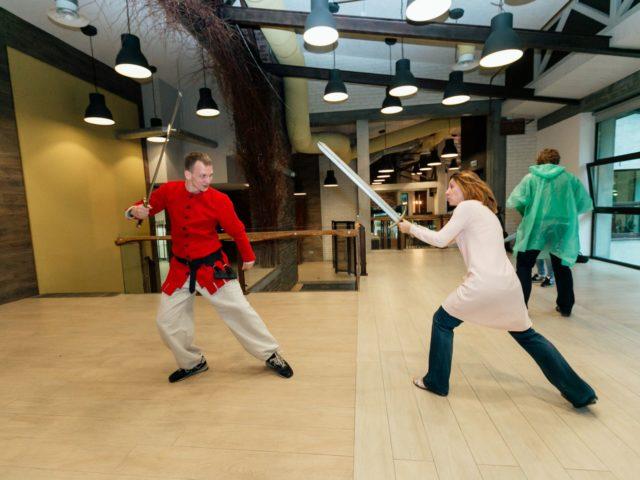 Битва на мечах на тематическом мероприятии