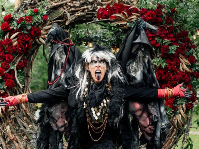 Гарпия на тематической свадьбе Ведьмак