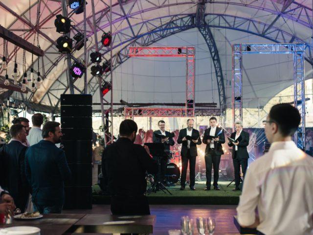 Вокальный хор Логос открыват летний приём Ассоциации менеджеров