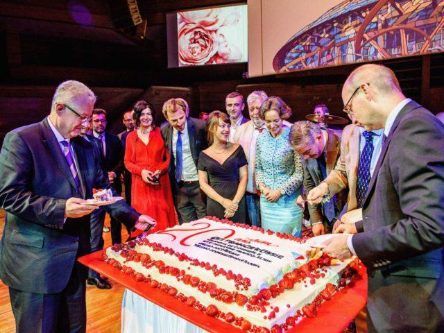 Торт на 20 ти летии Франко Российской торгово промышленной палаты